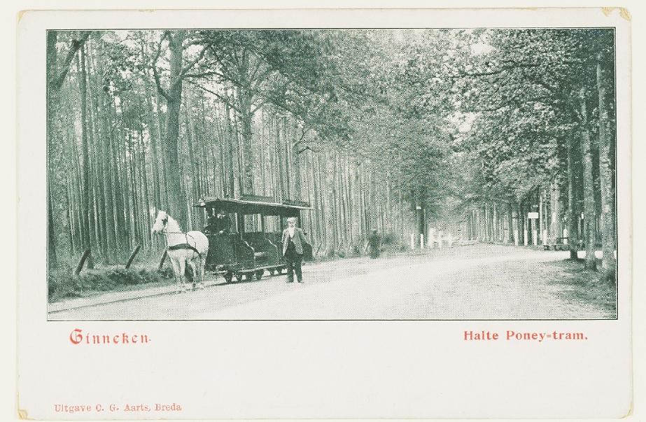 Ginneken.Halte Poney-tram.Uitgave C.G.Aarts, Breda.